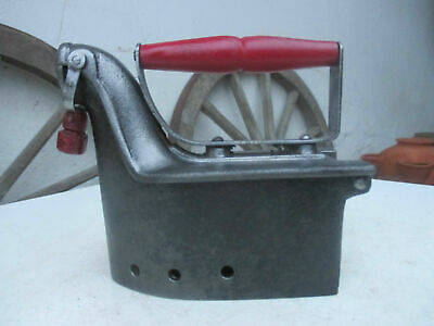 Vintage Alba 1930s Rare Small Size Cast Iron Chimney Coal Ironing Clothes Press