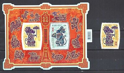 Canada LUNAR NEW YEAR 12 - RAT SCOTT 2257 & 2258 VF MINT NH (BS14021)