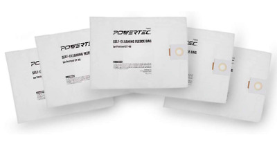 Powertec Festool Dust Collector Replacement Self Cleaning Filter Bag 5 Pack Set