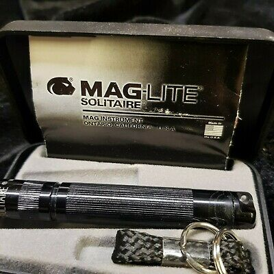 Maglite Mini Mag AAA Solitaire Torch Boxed Black Camping light Flashlight