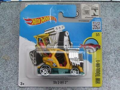 Hot Wheels 2016 #035/250 TEE'D OFF 2 yellow HW TOOL-IN-1 Case Q Golf buggy