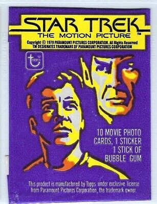1979 TOPPS STAR TREK The Motion Picture Complete Card Set & Stickers & Wrapper