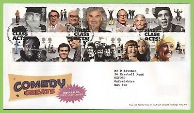 G.B. 2015 Comedy Greats set on Royal Mail First Day Cover, Tallents House