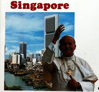 Singapor Trip / Travel Pope John Paul II Vatican Envelope PA599
