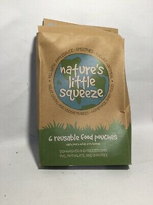 Wee Sprout Nature's Little Squeeze Pouches Reusable Set Of 6