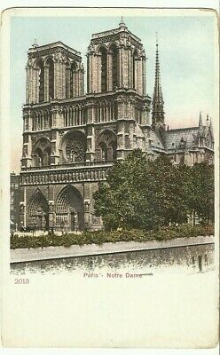 Early PC ~ Paris - Notre Dame ( Cathedral ) UDB Unsent Postcard