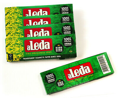 5 booklets - aLeda King Size clear Cellulose paper from Brazil - total 200 paper