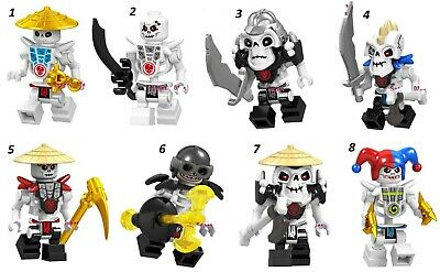 Frakjaw Garmadon Ninjago Skeleton Bone Soldier Custom Mini Figure & Lego Pythor