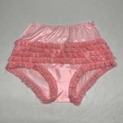 Vintage Malco Modes Pink Frilly Dance Panties. Roomy Size 10