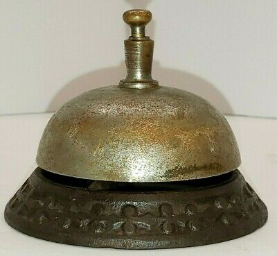Antique Hotel Front Desk Shop Counter Butler's Bell  Late 1800s - Early 1900s