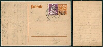 Germany 1920 Uprated Stationery Wolfstein Pmk Stamps With Ovpt -Cag 080519