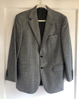 Brooks Brothers Loro Piana Wool Black Ivory Houndstooth Jacket Coat Blazer 38 S