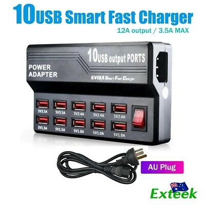 Powerport Multi USB Port Wall Charger Charging Station AC Power Adapter AU