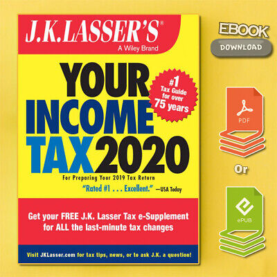 J.K. Lasser's Your Income Tax 2020 by J.K Lasser (2019, Digital) {PĎḞ}⚡