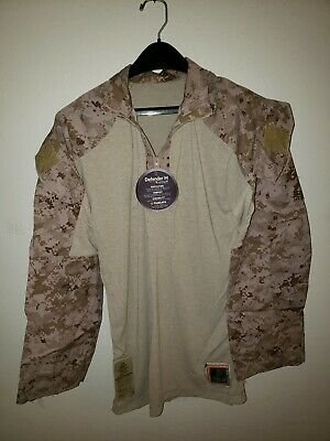 USMC Desert MARPAT Camo Defender FROG FR Ensemble Combat Shirt Small Regular New