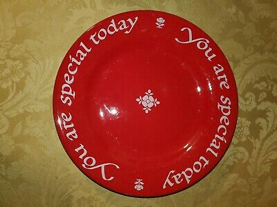 Waechtersbach Red You Are Special Today Plate Ceramic Germany 10.5""