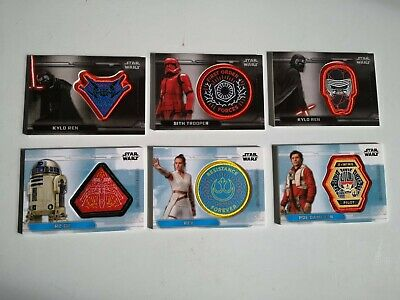 TOPPS STAR WARS THE RISE OF SKYWALKER Movie Commemorative PATCH 6 cards full set