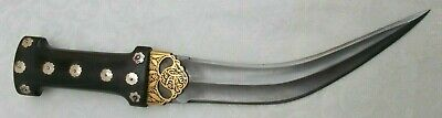 Mughal style islamic dagger wootz billet beautiful Gold koftgari -23
