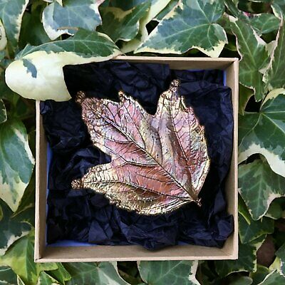 Artisan Leaf Brooch Earth Magic Wicca Witchcraft Nature