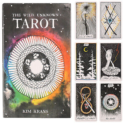 78pcs Tarot Deck Oracle Cards The Wild Unknown Rider-Waite Future Fate Telling