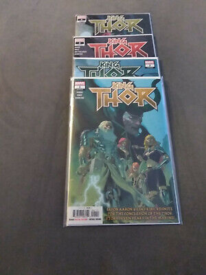 king thor cover a complete lot 1-4 aaron 2019 marvel comics