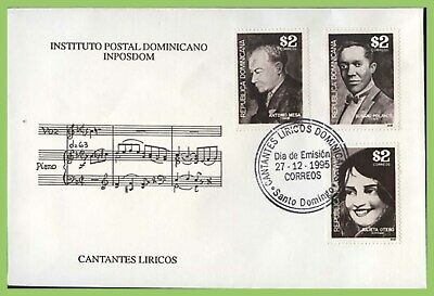 Dominican Republic 1995 Singers set of three on First Day Cover