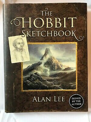 The Hobbit Sketchbook Hand Signed First Edition Book By Alan Lee