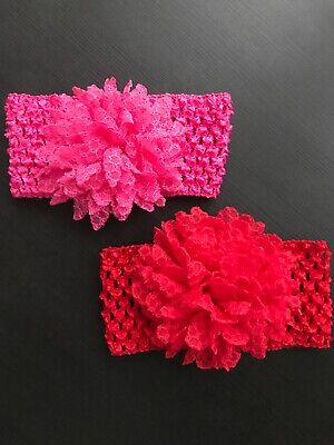 Baby Girl Headbands Red And Pink - New