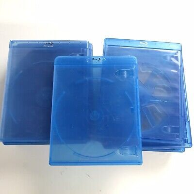 11x EMPTY BluRay Blue-Ray Movie Game Disc CD Cases Replacement Mixed Kinds Blue