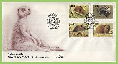 Bophuthatswana (S.A.) 1990 Small Mammals set on First Day Cover