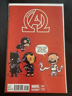 New Avengers 1 Skottie Young Variant Cover Johnathan Hickman Marvel Comic