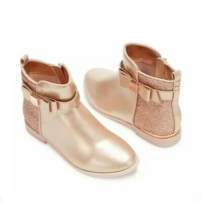 Ted Baker Girls' Light Gold Glitter Ankle Boots/Shoes.Size 6 / 39. £40.00. Bnwt