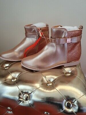 Ted Baker Girls' Light Gold Glitter Ankle Boots/Shoes.Size 4 / 37. £40.00. Bnwt