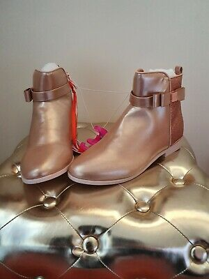 Ted Baker Girls' Light Gold Glitter Ankle Boots/Shoes.Size 1 / 33. £40.00. Bnwt