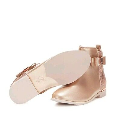 Ted Baker Girls' Light Gold Glitter Ankle Boots/Shoes.Size 12 / 32. £40.00. Bnwt