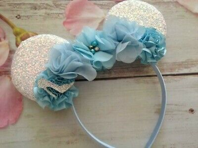 Cinderella Couture Minnie Mouse ears headband- Disneyland- Disney World