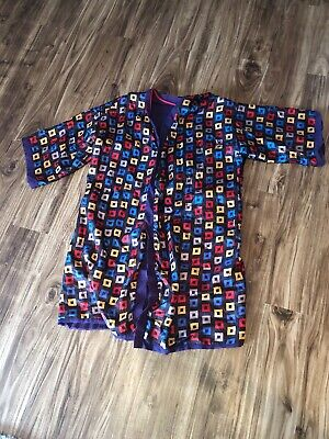 Vintage State O Maine Men's Robe Reversible Retro Pop Art Contemporary Medium