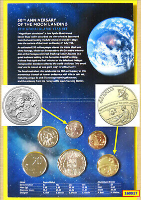 2019 R.a.m. Six Coin Uncirculated Year Set – 50Th Anniversary Of The Moon Landin