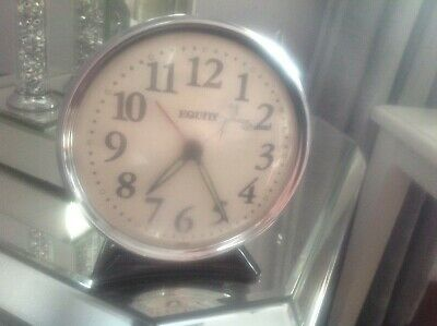 Vintage Retro Collectable Big Size Wind Up Mechanical Alarm Clock By Equity