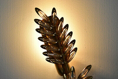 Palme & Walter Wandleuchte crystal glass wall lamps sonce PALWA Germany