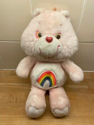 Vintage 1980's Care Bears CHEER BEAR Plush Soft Toy Cuddly Teddy 34 cm Tonka
