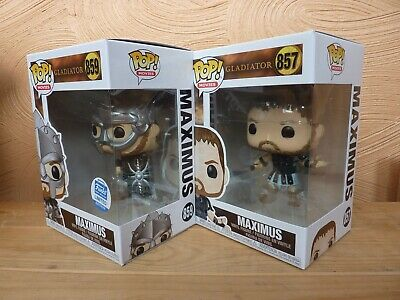 GLADIATOR Funko Pop Boxed Figures MAXIMUS & MAXIMUS WITH HELMET Funko Shop