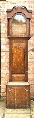 Good Antique Longcase Clock Case. Oak and Mahogany. c1820. For 13 By 18 Dial