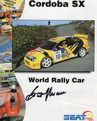 Gwyndaf Evans Autographed Photo Rally Cars Motor Sport