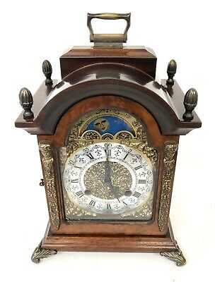 FRANZ HERMLE Dutch Bracket Mantel Clock Rolling Moon Phase Ting Tang Striking