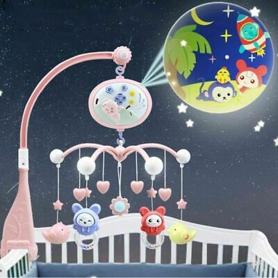 Baby Crib Mobile Bed Bell Holder Toy Hanging Arm Bracket Decoration Music Box US
