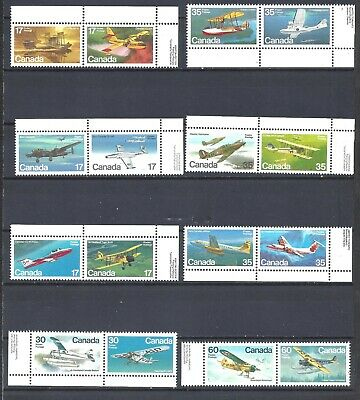 Canada SELECTION OF AIRCRAFT COMPLETE SCOTT 843/972 VF MINT NH (BS13647B)