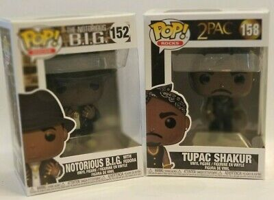 FUNKO POP 2PAC Tupac with Bandana The Notorious  B.I.G with Fedora  Bundle Deal