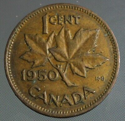 1950 Canadian penny one cent by Canada Coin Zone.ca