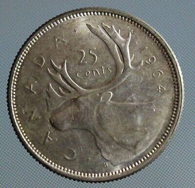 1964 Canada quarter - this 25 cent coin is 80% silver